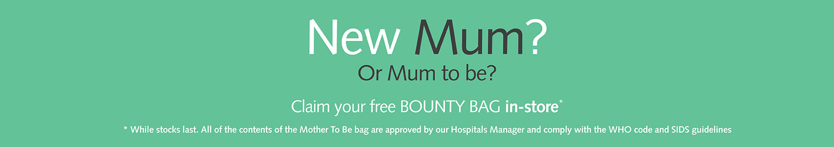 New Mom or Soon to be Mom Bounty Bags
